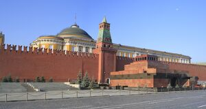 Lenin's tomb & Kremlin, Red square, Moscow, Russia