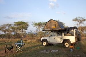 Tanzania, Serengeti. Rough camping in one of the designated 'special campsites'