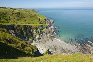 The North Devon coast near Combe Martin, UK