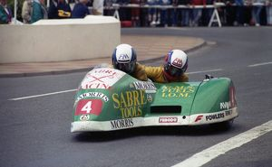 Dave Saville leaves Parliament Square: 1990 Sidecar Race A