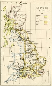 Map of Britain in 597 AD