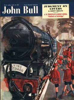 John Bull 1951 1950s UK the flying scotsman, trains stations magazines