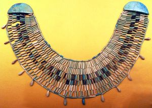 Ashmolean Museum, Turquoise Necklace from the Egyptian Old Kingdom, (the name given