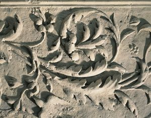 France, Decoration with leaves and birds