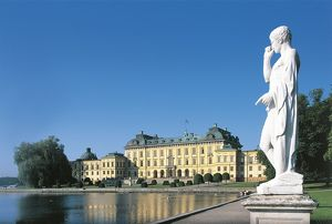 Sweden, Lake Malaren, Drottningholm Palace, Baroque style, Designed by architects Nicodemus Tessin Elder and Nicodemus Tessin Younger, 17th century