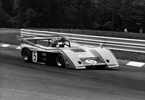 1972 McLaren Chevrolet M20 Can-Am sports car Denny Hulme at the wheel