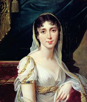 Desiree Clary (1781-1860) Queen of Sweden, 1807 (oil on canvas)