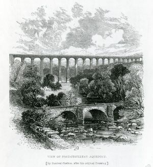 A View of the Pont-Cysylltau Aqueduct, 1861 (engraving)