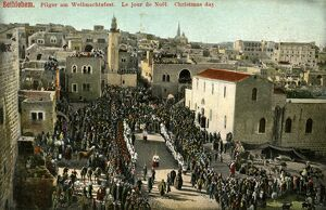 Christmas day in Bethlehem