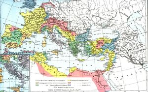 Map showing the Roman empire at its largest