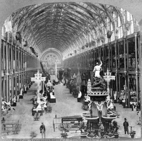 1862 EXHIBITION, Kensington, London. The 1862 Exhibition was the successor to the Great Exhibition of 1851. A temporary exhibition venue was built on Cromwell Road. Howarth-Loomes Collection