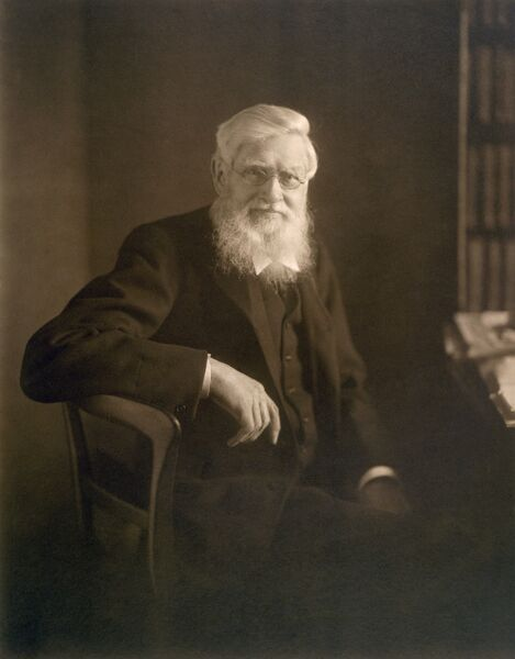 DOWN HOUSE, Kent. Historic photograph of Alfred Russel Wallace (1823-1913)