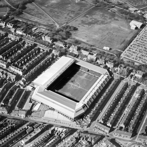 ANFIELD STADIUM, Liverpool. Aerial view of the home of Liverpool Football Club since 1892. Photographed in 1973. Aerofilms Collection (see Links)