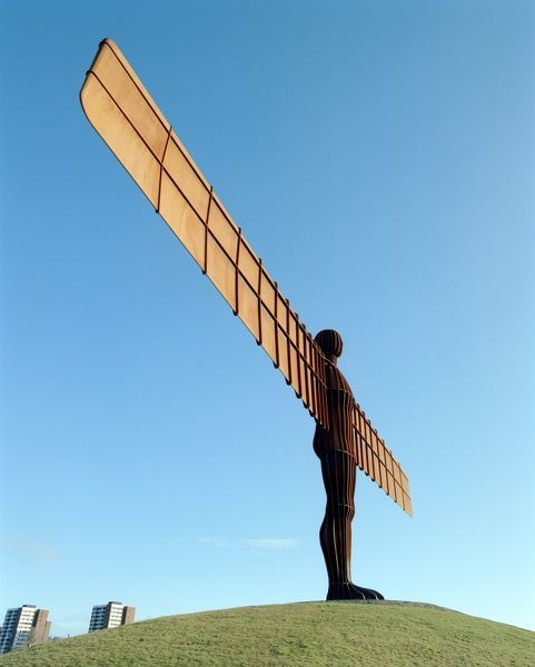 THE ANGEL OF THE NORTH, Gateshead, Tyne and Wear. Antony Gormley's Angel of the North