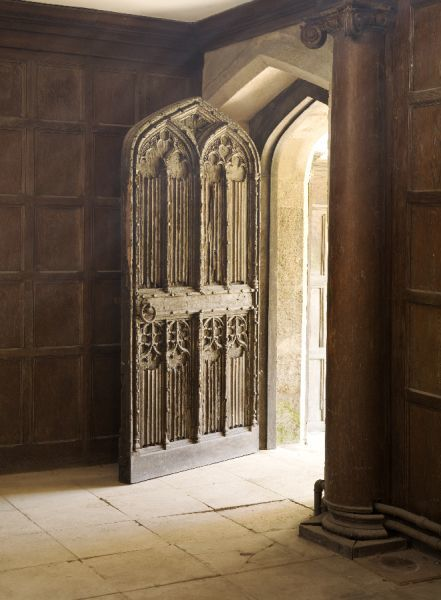APETHORPE HALL, Northamptonshire. Great Hall, entrance doorway