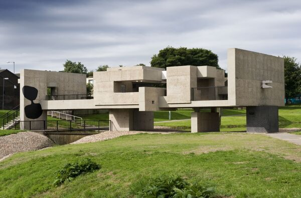 Apollo Pavilion, Peterlee, County Durham. General view of Apollo Pavilion by Victor Passmore, 1969