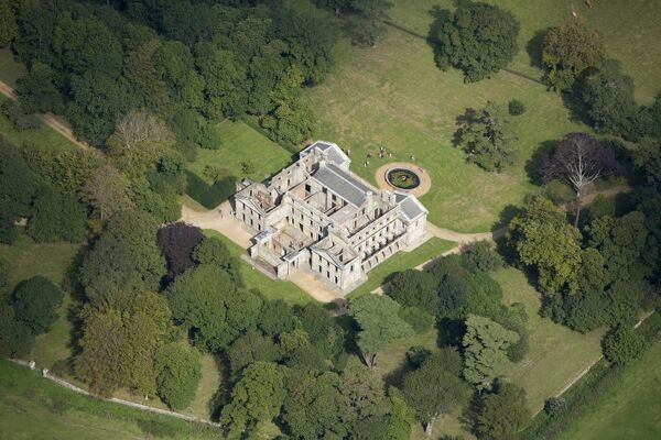 APPULDURCOMBE HOUSE, Isle of Wight. Aerial view