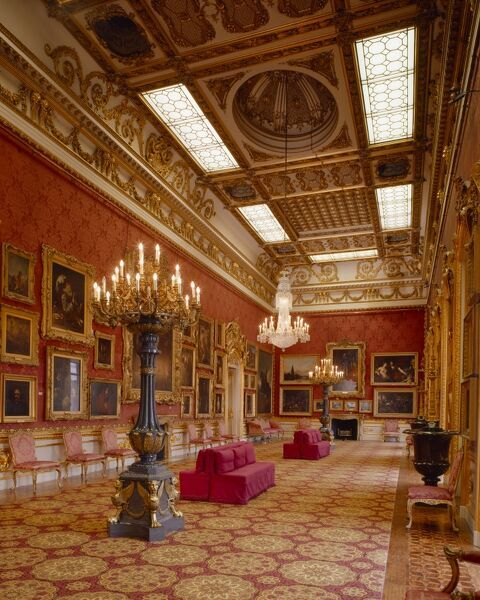APSLEY HOUSE, London. Interior view of the Waterloo Gallery