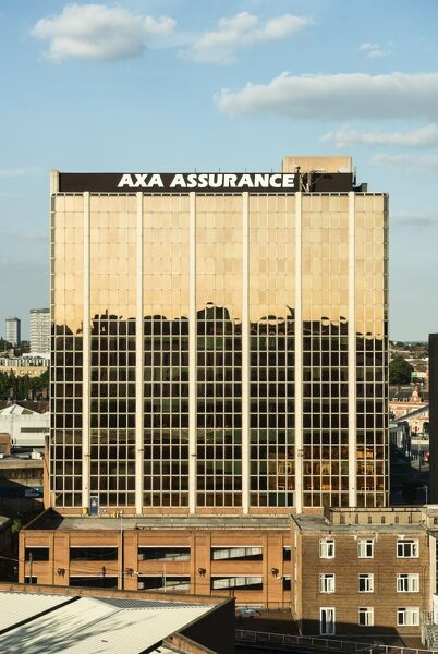 The former 'Axa Insurance' building, Well Street, Coventry, West Midlands. General view from the west