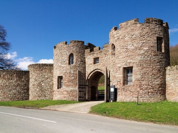 BEESTON CASTLE, Cheshire. The entrance gateway built by Lord Tollemache in 1846