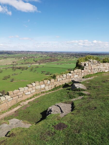 BEESTON CASTLE, Cheshire. View from the castle looking north east across the Cheshire plain
