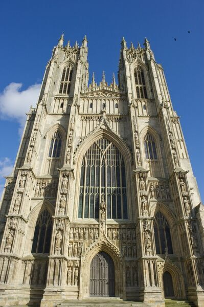 BEVERLEY MINSTER, East Riding of Yorkshire. Exterior of the West Front