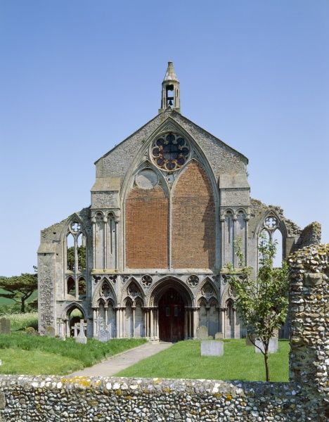 BINHAM PRIORY, Norfolk. View of the West front