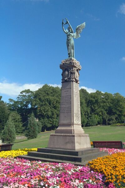 Colourful shot of the memorial in Saltwell Park, Tyne and Wear. IoE 430213