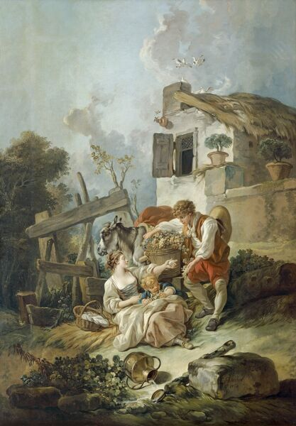 KENWOOD HOUSE, London: The Iveagh Bequest. The Exchange of Produce, 1768, Francois Boucher. Oil on canvas 67 x 49 in. (170.2 x 124.5cm). 88028822