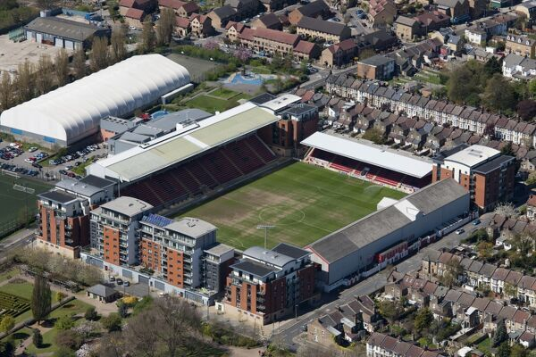 The Matchroom Stadium, Brisbane Road, Leyton, London E10. Home of Leyton Orient Football Club. Photographed in May 2013
