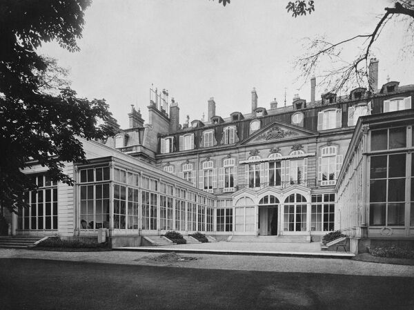British Embassy (Hotel De Charost), 39 Rue De Fauborg Saint Honore, Paris, France. The garden frontage of the Ambassador's residence photographed in 1964 for the Ministry of Public Building and Works