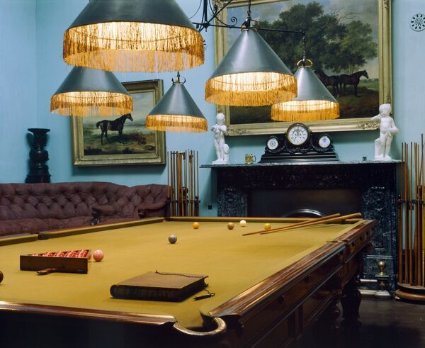 BRODSWORTH HALL, South Yorkshire. The Billiard Room