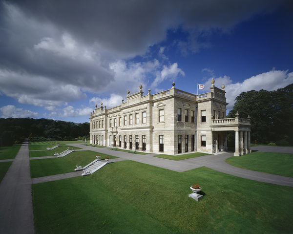 BRODSWORTH HALL AND GARDENS, South Yorkshire. Exterior south and east fronts