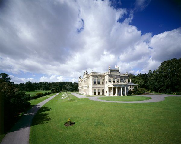 BRODSWORTH HALL AND GARDENS, South Yorkshire. View of the exterior east front