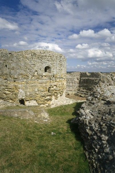 CAMBER CASTLE, Winchelsea, East Sussex. View from inside the castle walls