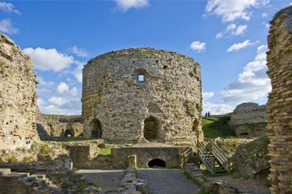 CAMBER CASTLE, Rye, East Sussex. View of central tower from within the outer walls