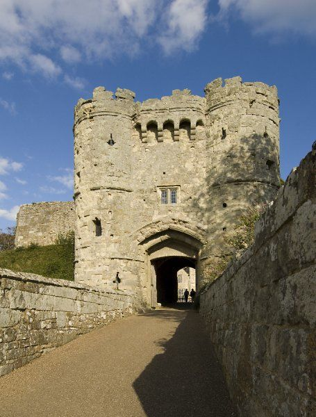 CARISBROOKE CASTLE, Isle of Wight. View of the Gatehouse