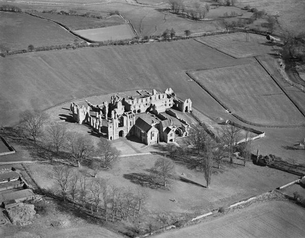 CASTLE ACRE PRIORY, Norfolk. Aerial view of the Priory ruins. Photographed by Aeropictorial in April 1946. Aerofilms Collection (see Links)
