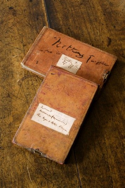 DOWN HOUSE, Kent. Two of Charles Darwin's 'Beagle voyage' notebooks
