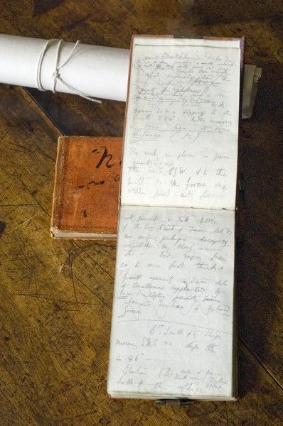 DOWN HOUSE, Kent. An open page of one of Charles Darwin's 'Beagle voyage' notebooks