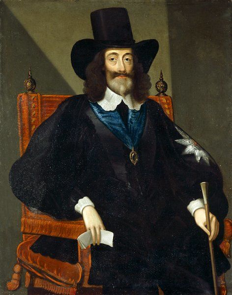 "CARISBROOKE CASTLE, Isle of Wight. ""Portrait of Charles I at his trial"" 1649 after Edward Bower"