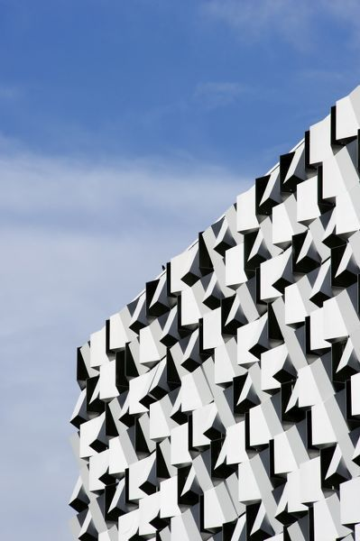 CHARLES STREET CAR PARK, Sheffield, South Yorkshire. Detail view of 'The Cheese Grater&#39