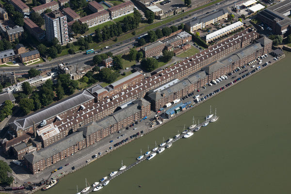 Chatham Historic Dockyard, Kent. Once one of the Royal Navy's main facilities, the dockyard is now a maritime museum. The Ropery, shown here, is a Grade I listed building