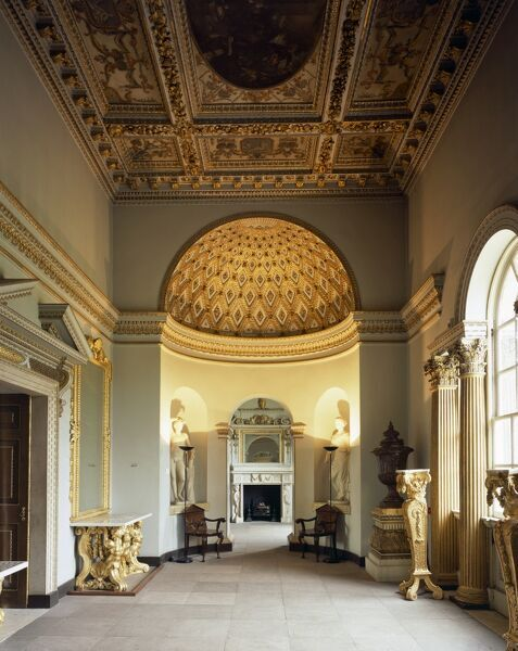 CHISWICK HOUSE, London. Interior view of the Gallery