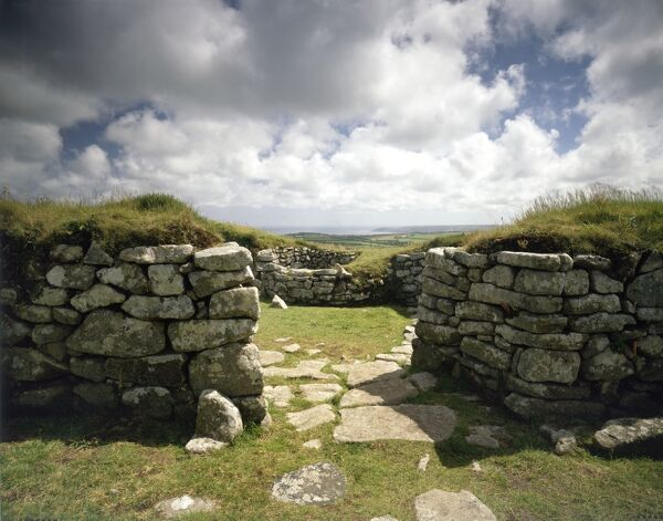 CHYSAUSTER ANCIENT VILLAGE, Cornwall. Entrance to a courtyard house