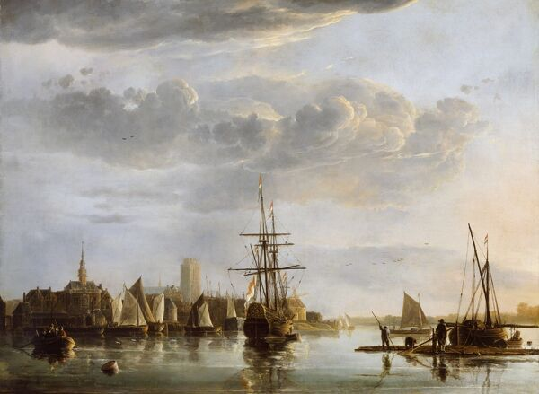 "KENWOOD HOUSE, THE IVEAGH BEQUEST, London. ""View of Dordrecht"" c1652-3 by Aelbert Cuyp (1620-91)"