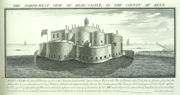 DEAL CASTLE, Kent. 'North west view of Deal Castle in the county of Kent' by Samuel and Nathaniel Buck, 1735