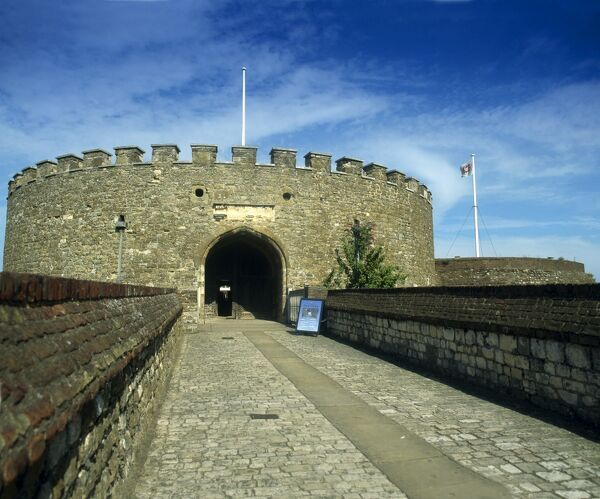 DEAL CASTLE, Kent. View of the entrance to the keep