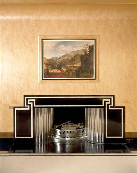 ELTHAM PALACE, Greenwich, London. Interior view. The Dining Room fireplace