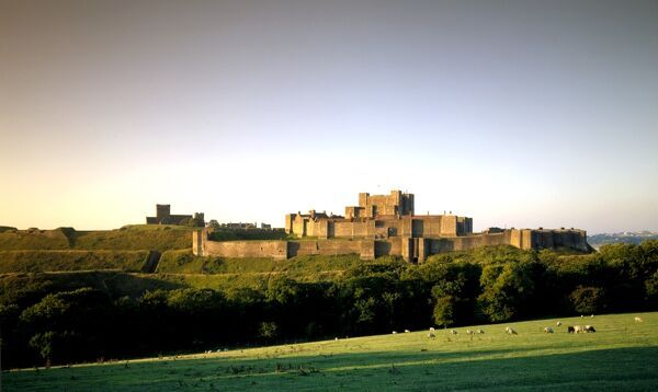 DOVER CASTLE, Kent. View from the North East